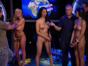Worlds Strongest Naked girl Contest