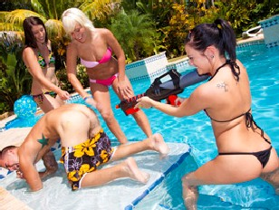 Brandi Belle - Fun with the Pool Boys.