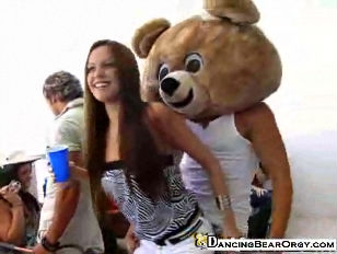 Group Of hoes lick the Dancing Bear