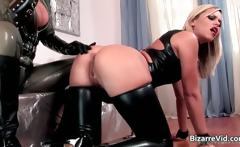 two dirty cutie in latex clotn blowing