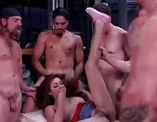 Chanel In A GangBang at Lunch Break