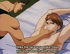 Anime gay tied and screwed by a guy