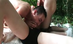 Gay freaks hardcore fuck outdoors
