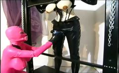 Horny domina making up with her slave