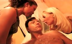 two naughty mistresses humiliating a guy