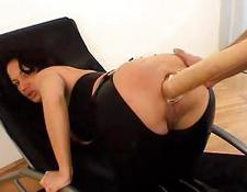 Latex Clad bitch Gets Some Much Needed Anal Insertions
