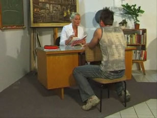 German teacher fuck with a young BF