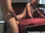 Slim girl with tiny melons gets hammered and jizzed on
