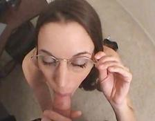 charming sluts With Glasses Give Out Free Blowjobs