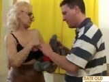 grandmother in glasses gets a good fuck by dow50