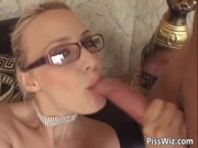 yellow-haired with glasses takes a sex drive