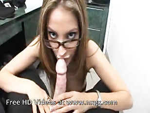 A secretary gets drilled by her cowork.
