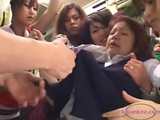 Schoolgirl Kissed Getting Her Face Licked breasts Rubbed And Covered With Jelly On The Bus by thebobbob