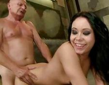 naughty young enjoys sex with grandpa