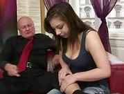kinky young likes sex with grandpa