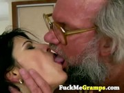skinny young chick hard fucked by grandpa