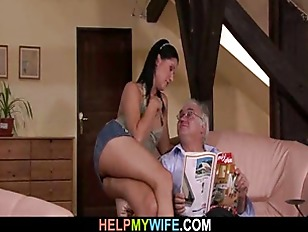 Brunette ex-wife is sexed by a stranger.