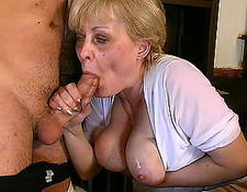 Busty grandmother in bj