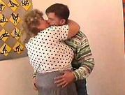 older fat granny tricks younger stud into sex