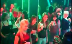Amateur whores dance with strippers at sex party
