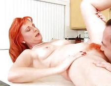 Sasha Brand gets her hairy Anilos pussy plowed