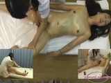oriental lady With Tiny boobs Massage With Oil Hairy cunt Fingered By The Masseuse On The Massage Bed by legalize17