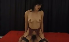 Extremely hairy oriental woman anal fuck