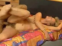 Very Hairy German older blondy Casting Tryout