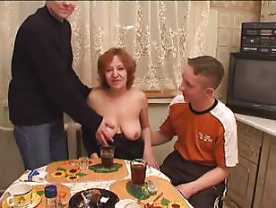 cougar Drunk Mom rides 2 boys