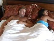 black fiance with huge tits cheating hubby and doing oral sex