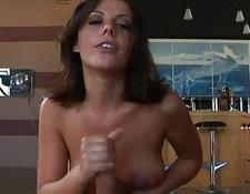 fine Penny Flame gives an amazing handjob