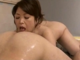 Busty fat Milf Fingered Giving Handjob Massaging lover With Her Body In The Bathroom by sotegune