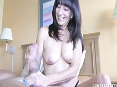 Topless Milf Causes A sperm Explosion