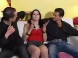 Emo Brunette babe Threesome double group sex and orgy by zonapona