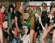 Group sex and pissing action