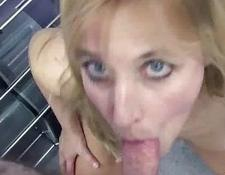 blonde Liisa blows a dong in this POV scene