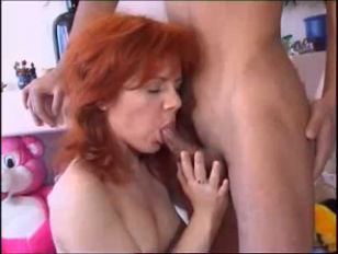 Redhead nailed in all holes