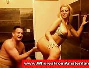 yellow-haired dutch prostitute from amsterdam gives blowjob