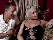 slutty yellow-haired prostitute gives fantastic bj