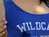 Natural massive tits young wet outdoors by Vanesio