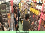 cute japanese broad drilled in public 11