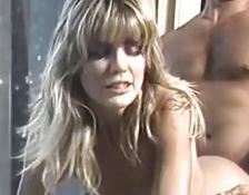 Retro blondie bent over and owned