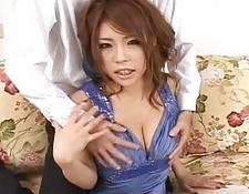 Haruka Sanadabeautiful chinese doll gets nipples licked and posing