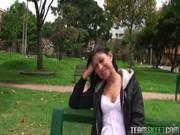 latina with puffy nipples drilled outdoors