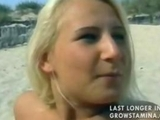 Nude blondy drilled on the beach by uploadhst010
