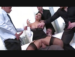 Blonde Gangbang white office black