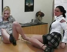 Office babes are posing