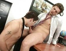 Office dick oral sex