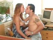 one hot lady fucking in the office