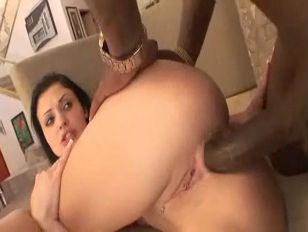 Hot babe butt fucked by BBC